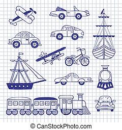 Set of vintage transport