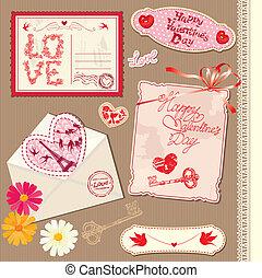 Set of Vintage Valentine's Day