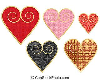 set of vintage valentines