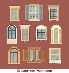Set of Vintage Windows