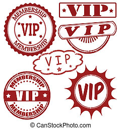 Set of VIP stamps