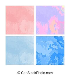 Set of watercolor abstract painting backgrounds