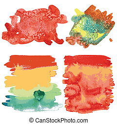 Set of watercolor backgrounds.