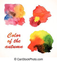 Set of watercolor blobs