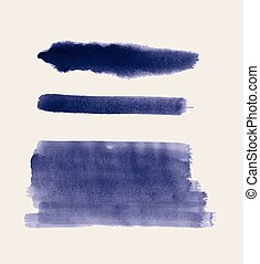 Set of watercolor paint strokes