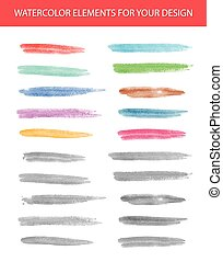 Set of watercolor spots for your design