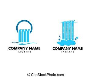 Set of Waterfall logo icon vector illustration