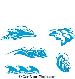 Set of wave symbols