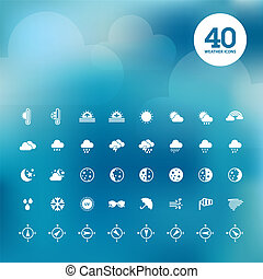 Set of weather icons  - Set of different weather icons