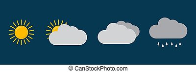 Set of weather icons. Vector illustration