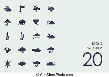 Set of weather icons - weather vector set of modern simple...