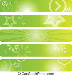 Set of web banners