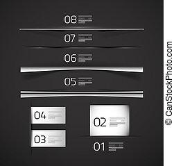 Set of web box shadows and dividers