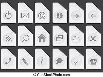 Set of  web buttons vector illustration