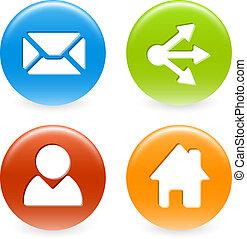 Set of web circle buttons