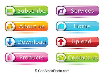 Set of Web Icon - illustration of set of icon for web on...