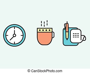 Set of web icons flat design for business, finance and communication. Vector illustration.