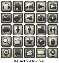 Set of web icons illustration