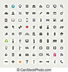 Set of web icons - Set of vector web icons