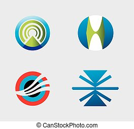 Set of web logo icons