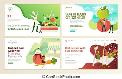 Online food ordering  vector flat illustration