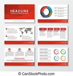 Set of web presentation slides