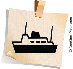 Set of web stylized boat icon