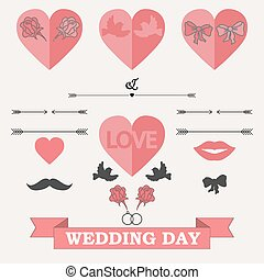 Set of wedding invitation