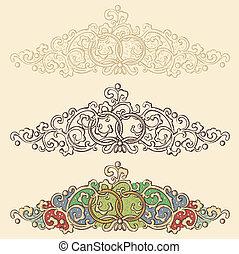 set of wedding renaissance borders