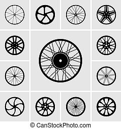 Set of wheels icons