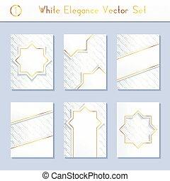 Set of white brochure designs