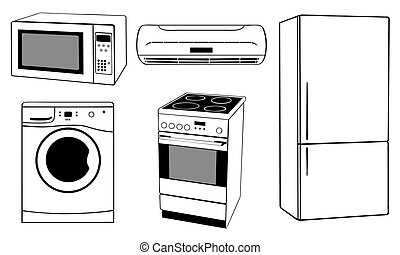 appliances - set of white house appliances