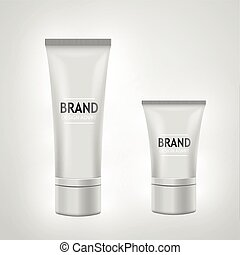 Set of white tube mock-up for cream, tooth paste, gel, toner. Cosmetic concept.
