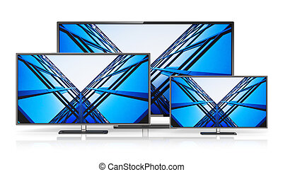 Set of widescreen TV displays - Creative abstract television...