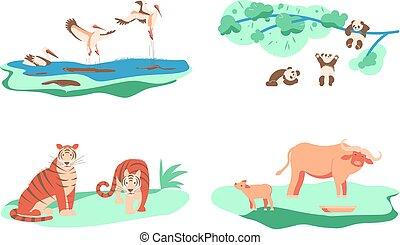 Set of Wild animal.