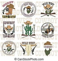 Set of wild west
