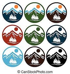 set of wildlife emblems