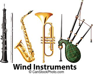 Set of wind instruments