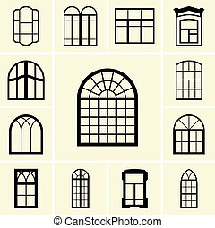 Set of window icons