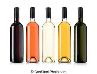 Set of wine bottles.