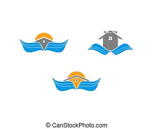 Set of Wing House Vector Logo