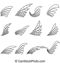 Set of Wings Icons