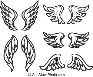 Set of wings tattoo