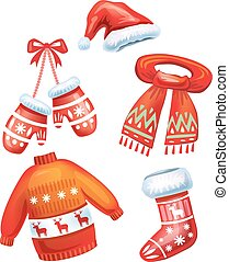 Set of winter accessories