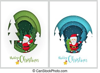Christmas Greetings in Paper Cut Style