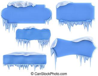 set of winter frames