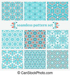 set of winter geometric pattern