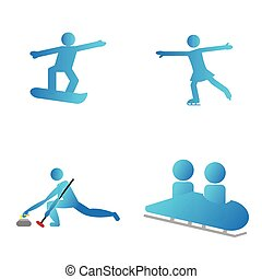 Set of winter sport symbols