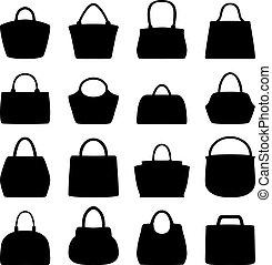 Set of women bags, vector illustration