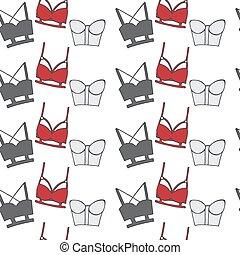 vintage lingerie seamless pattern